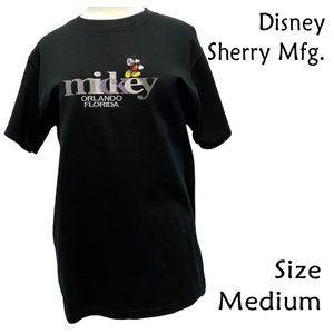 Disney Mickey Orlando Florida Black TShirt Size M